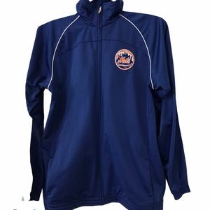 New York Mets Blue Zip Up Track Jacket Youth XL